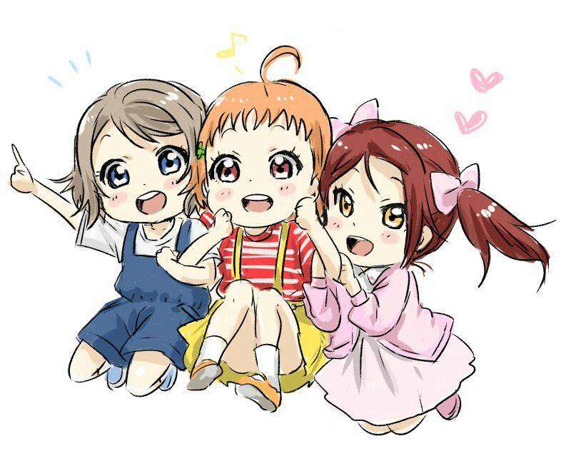 Love Live Sunshine You Watanabe Riko Sakurauchi Chika Takami Chibi Anime Chibi Anime