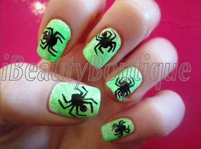 Halloween Spider Nail Art - Halloween Spider Nail Art Halloween Nail Art Pinterest