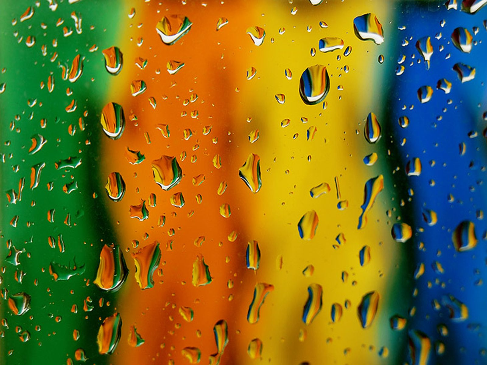 Colorful Water Drops Rainbow Wallpaper Colorful Wallpaper