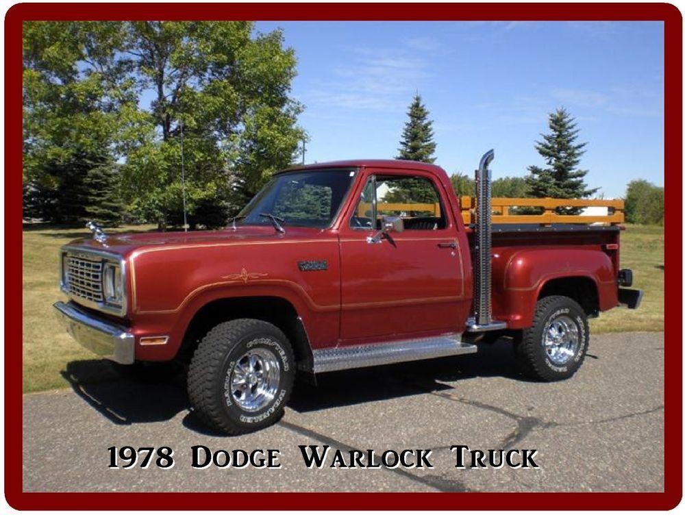 1978 Dodge Warlock Pickup Truck Refrigerator Tool Box Magnet Gift Card Insert