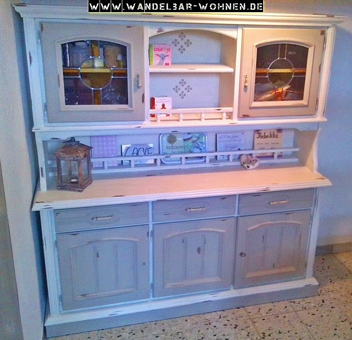 esszimmerschrank buffet shabby chic selber machen diy kreidefarbe chalk paint annie sloan. Black Bedroom Furniture Sets. Home Design Ideas