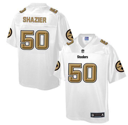 b5df5b681fe Men's Nike Pittsburgh Steelers #50 Ryan Shazier Game White Pro Line Fashion NFL  Jersey