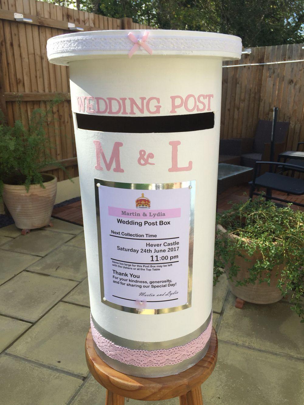 Wedding Postbox Wedding In 2019 Wedding Post Box Wedding Post Box
