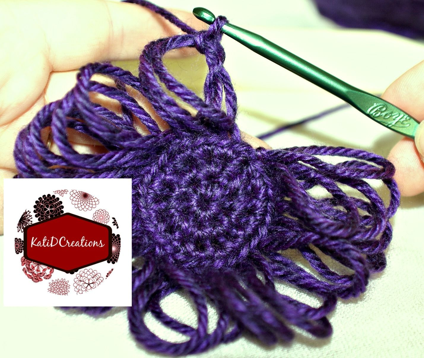 Broomstick Lace Tutorial - crocheting broomstick lace in the round ...