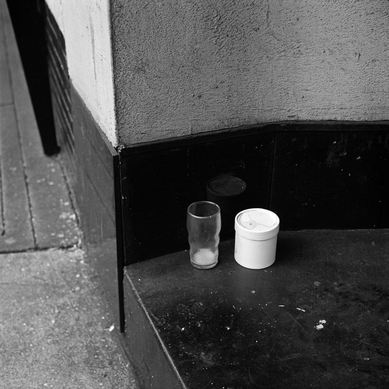 Vivian Maier - Chicago, May 1957 (glass) / Silver Gelatin Print - 12 x 12 (on 16x20 paper)