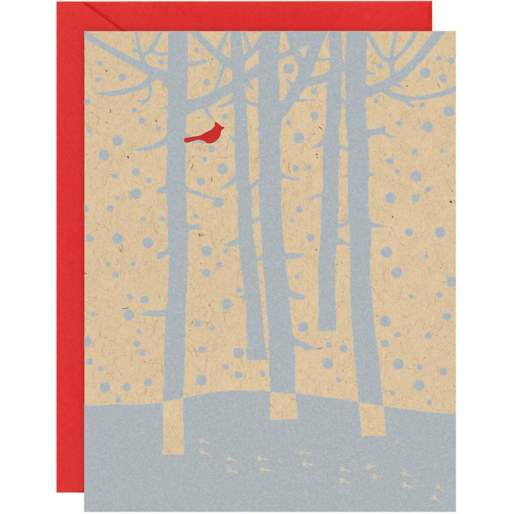 Cardinal Winter Trees A2 Holiday Cards - Paper Source | GIFTS to ...
