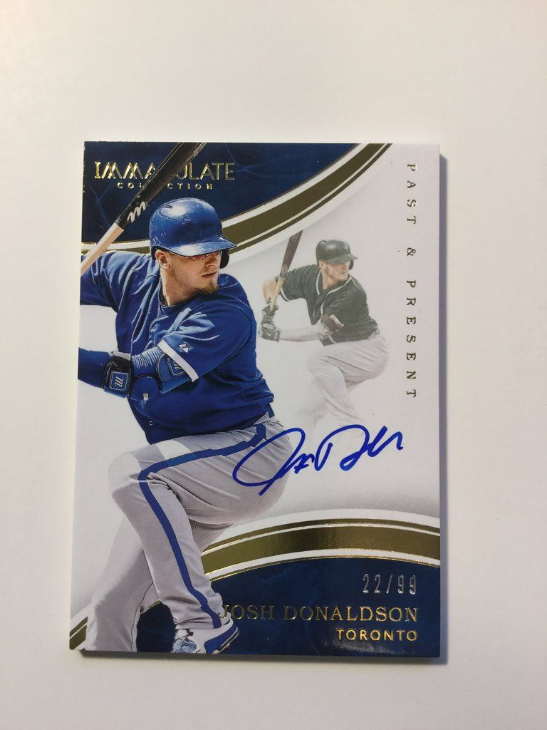 Toronto Blue Jays Josh Donaldson Signed Numbered Insert Card