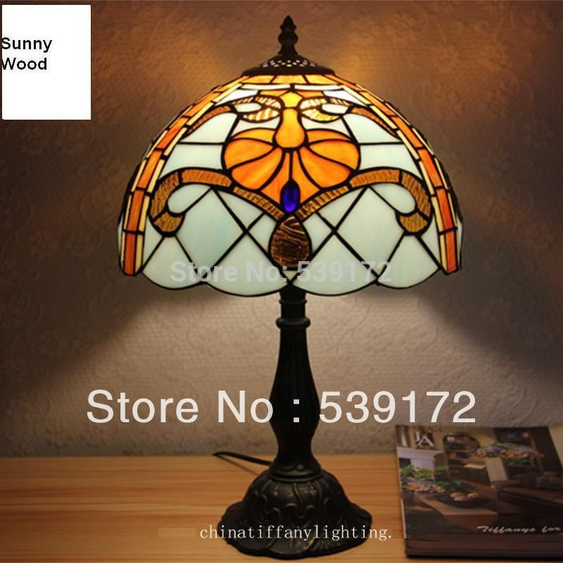 Free Shipping 12inch Shell Lamp Tiffany Lamp Free 5w E27 Led Bulb For Promotion Table Lamp For Living Room 90 260 Lamp Lamps Living Room