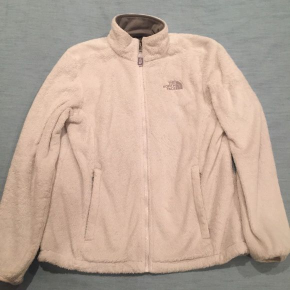 White North Face Fleece White North Face Fleece Jacket. Used for awhile. Minor stains on the front near the zipper, as shown in the last photo. Optional synching at the waste. Two pockets, one including a smaller pocket on the inside.  **Prices are negotiable, but I will ONLY negotiate with you through the OFFER button. Please do not negotiate in the comments. Happy Poshing!** North Face Jackets & Coats