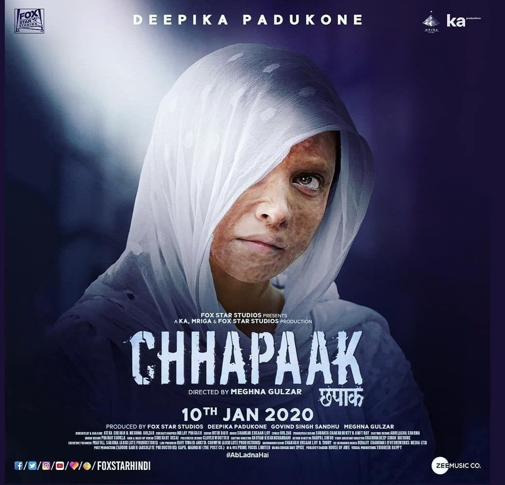 Chhapaak A Must Watch Movie In 2020 A Real Masterpiece By Deepika Padukone In 2020 Deepika Padukone Hindi Movies Meghna Gulzar