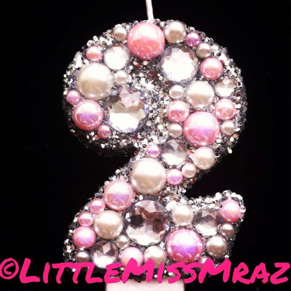 Glamour Princess 2nd Birthday Candle  Made to by LittleMissMraz