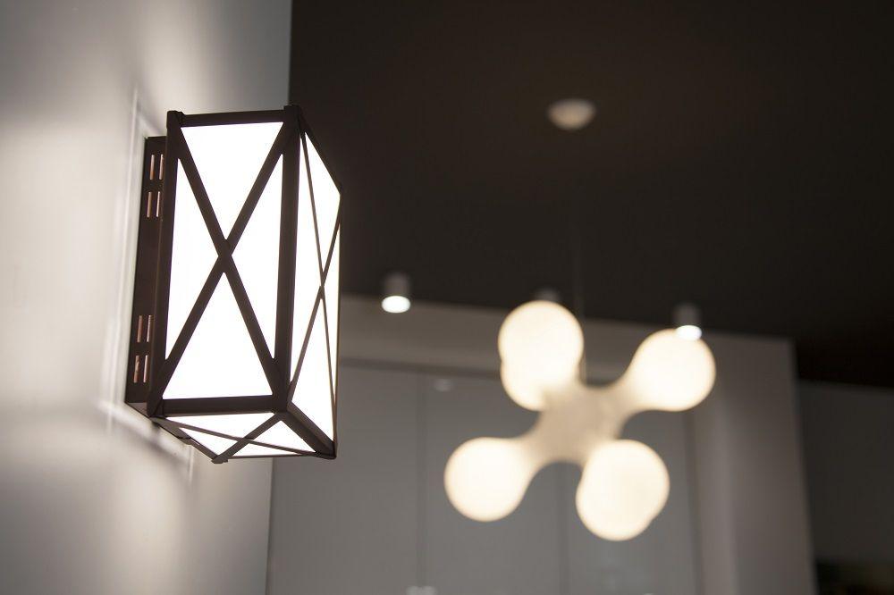 Plafoniera Officina : Applique led a luce diffusa realizzata da brillamenti officina
