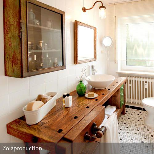 Ein altes Bad für wenig Geld verschönern Bath room, Men cave and - küche eiche rustikal verschönern