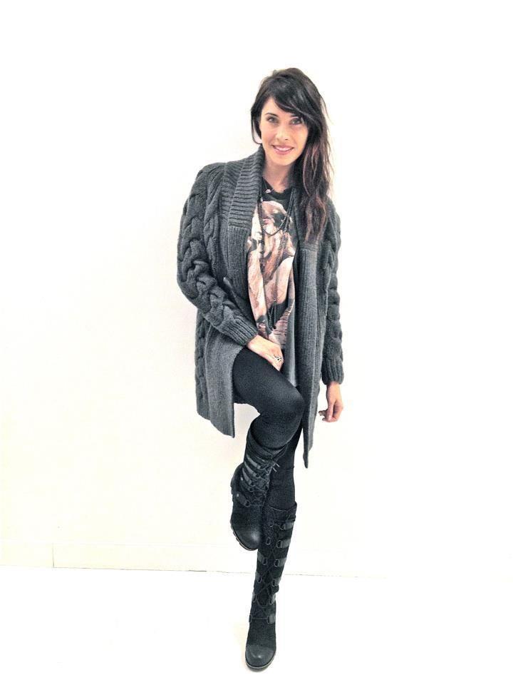 42fcdc8b8 Pilar Rubio shows off the black Joan of Arctic Wedge boots. SOREL ...