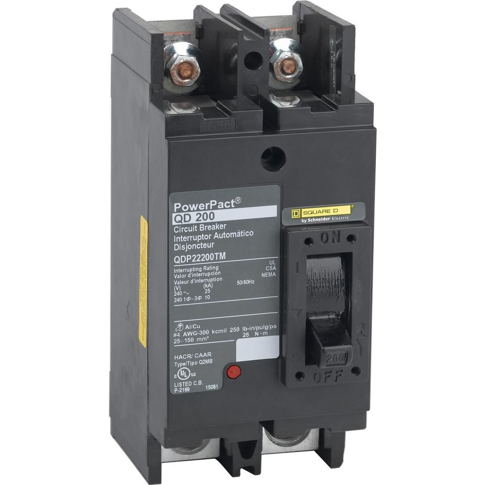 Square D Powerpact 200 Amp 25ka 2 Pole Q Frame Molded Case Circuit Breaker Home Depot Circuit Electronic Recycling