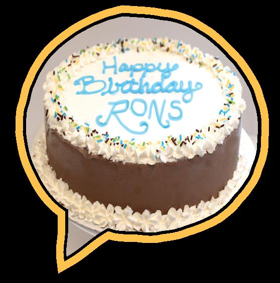 Happy Birthday To Ron S Dedham Ma Location 20 Years Of Amazing Handcrafted Ice Cream Gourmet Ice Cream Ice Cream Cake Cake