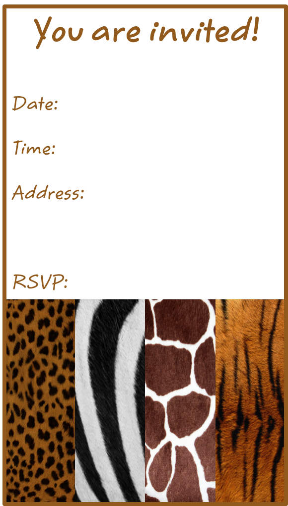 Animal Print Birthday Party Invitation | Animal Prints | Pinterest ...