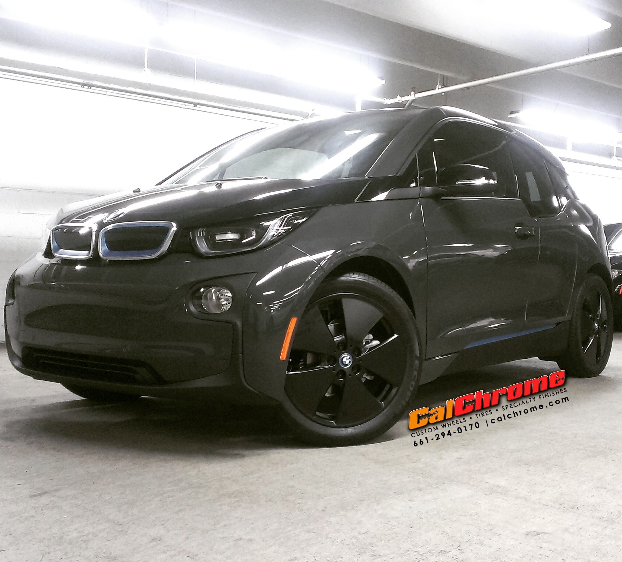 Bmw I3 With 19 Matte Black Fusion Powder Coated Wheels Electriccar