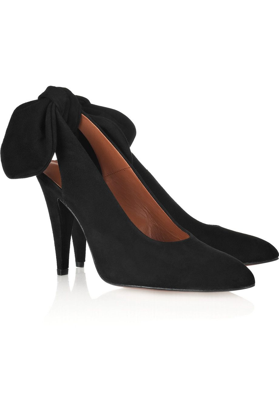 4ad29f2d5ef4 CARVEN - Bow-back sede slingbacks !! so cute !!! on my must have list