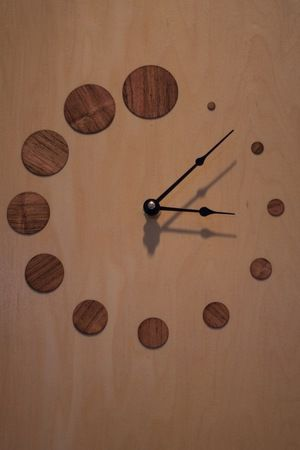 DIY kitchen cupboard clock