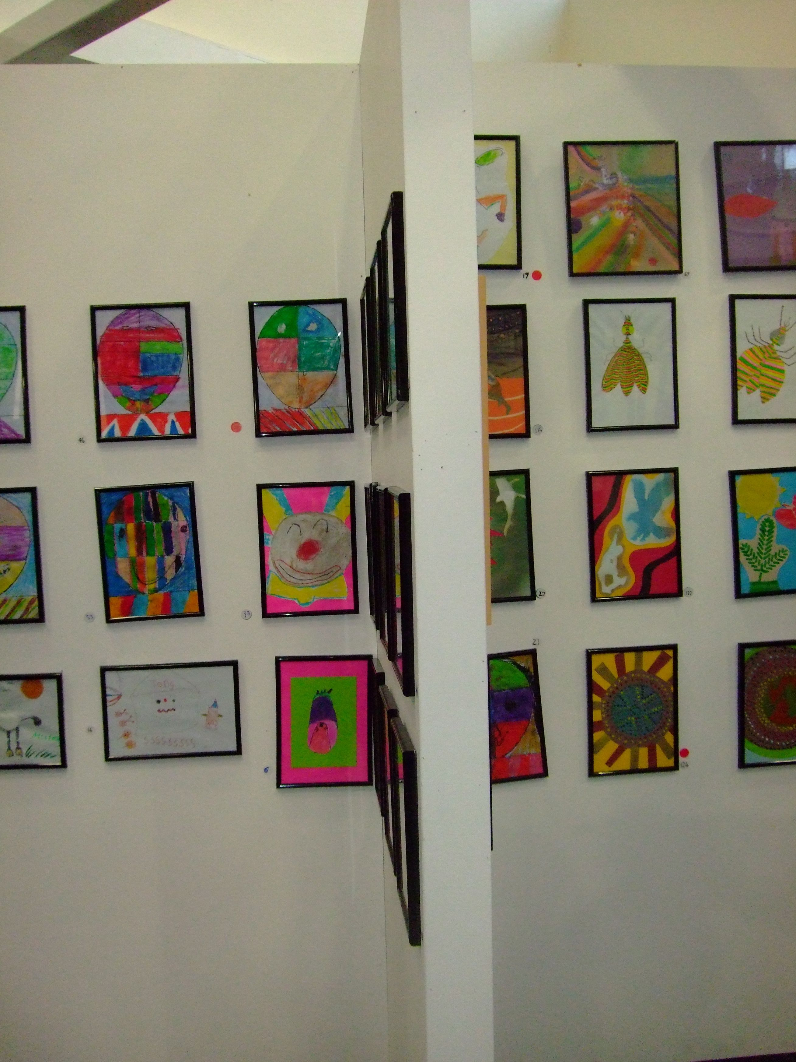children s art on display display gallery wall and