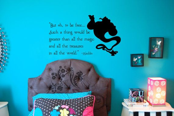 But Oh To Be Free Aladdin Vinyl Decal Wall Vinyl Wall
