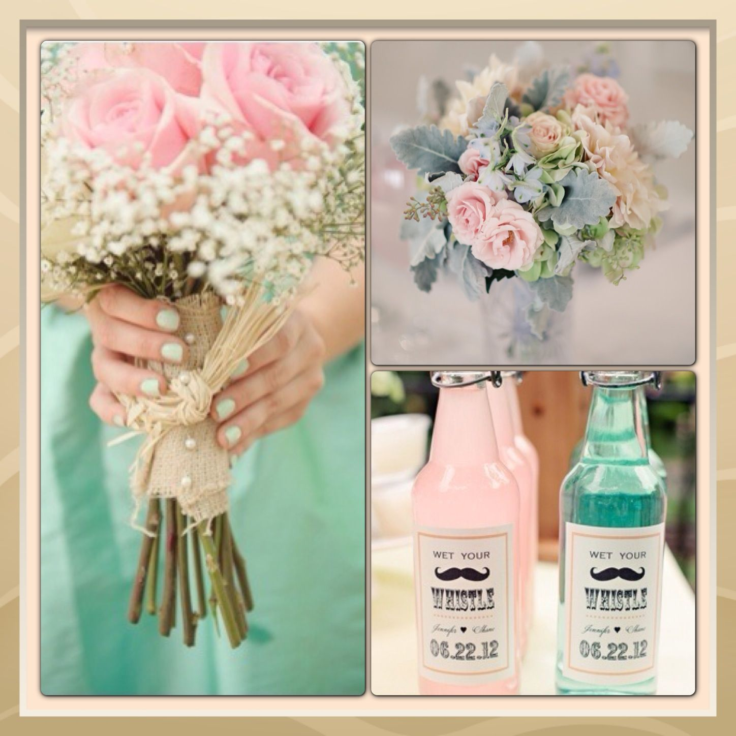 Mint Wedding Ideas: Mint And Blush, Wedding Theme Colours (Simply Adorable