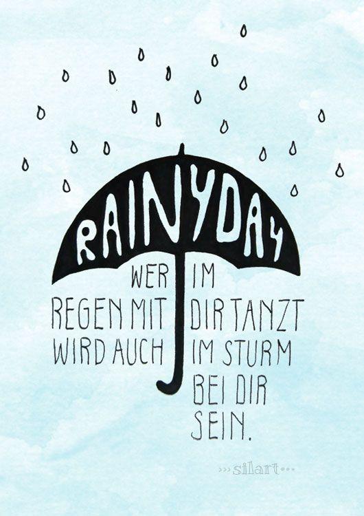Spruch Regen