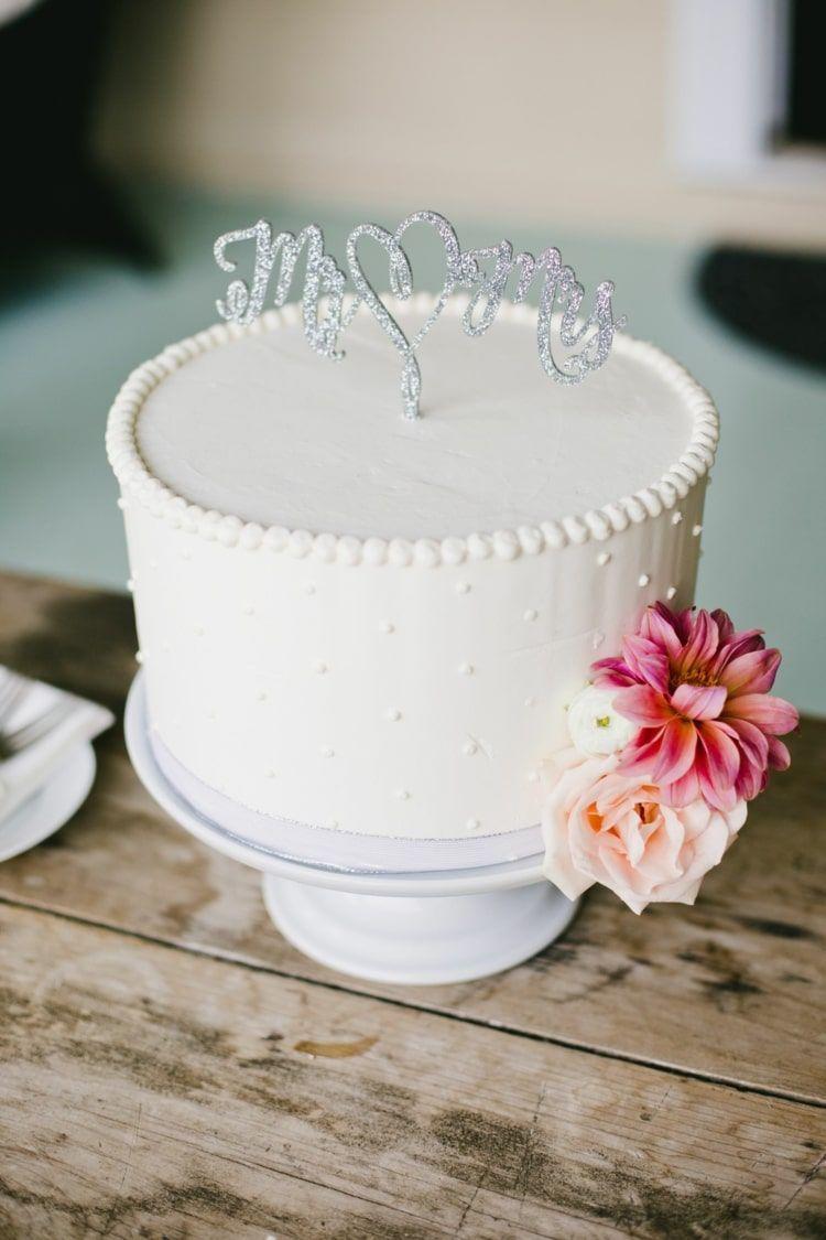 Hochzeitstorten einstöckig gestalten - Klein, aber fein!