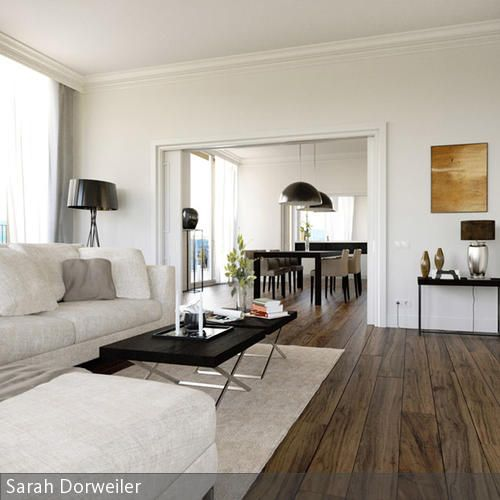 Neugestaltung Einer Penthousewohnung Mit Großem Wohn Essbereich, Nur  Getrennt über Eine Große Schiebetür.