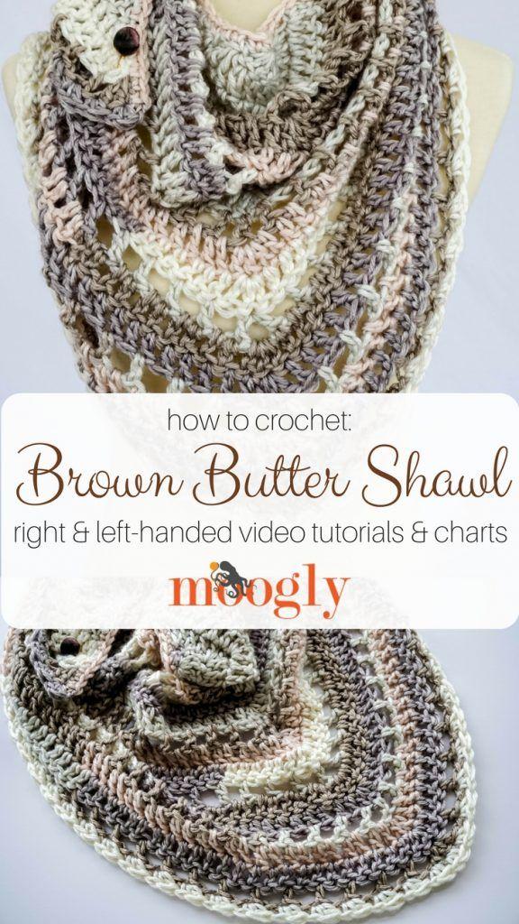 Brown Butter Shawl Tutorial | Schals und Tücher häkeln u. stricken ...