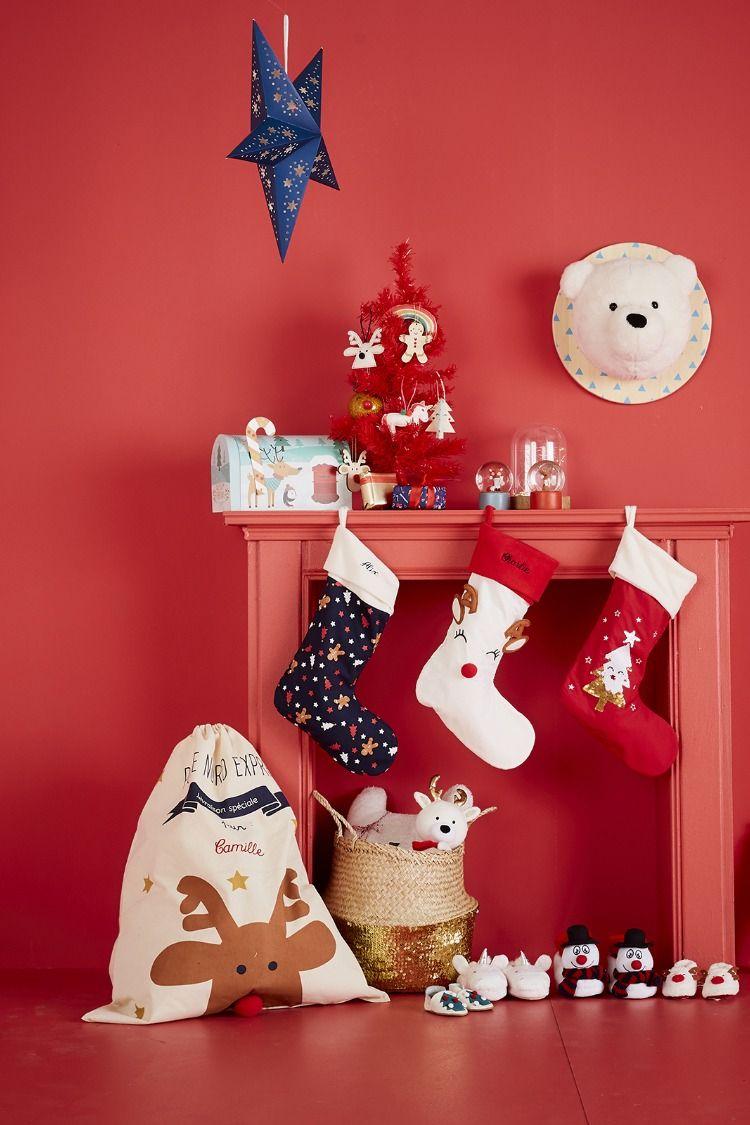 Chaussette De Noel A Suspendre Chaussette de #Noël à suspendre #personnalisable | Chaussette noel