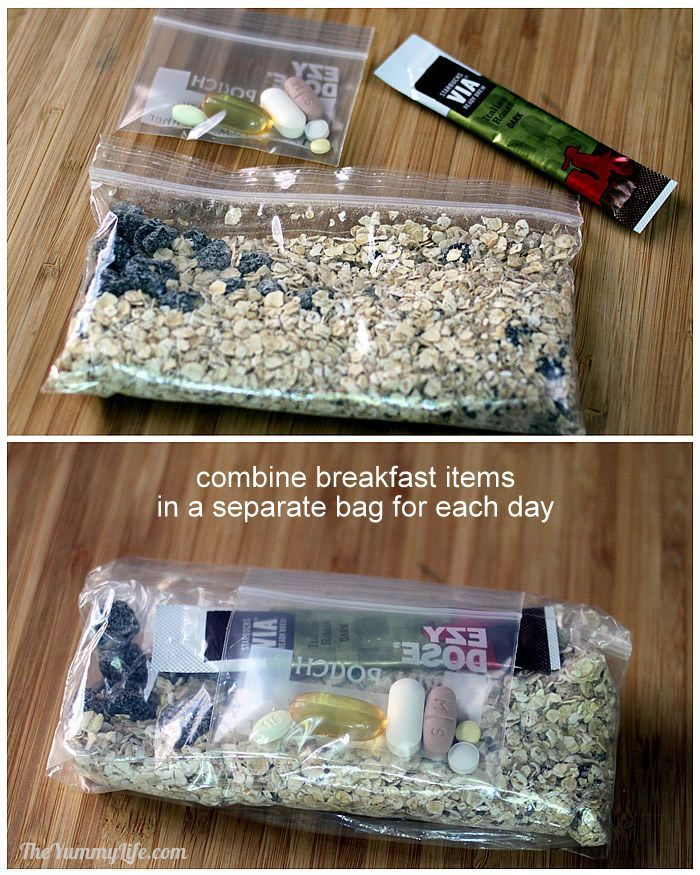 Camping Breakfast: Homemade Instant Oatmeal, Vitamins