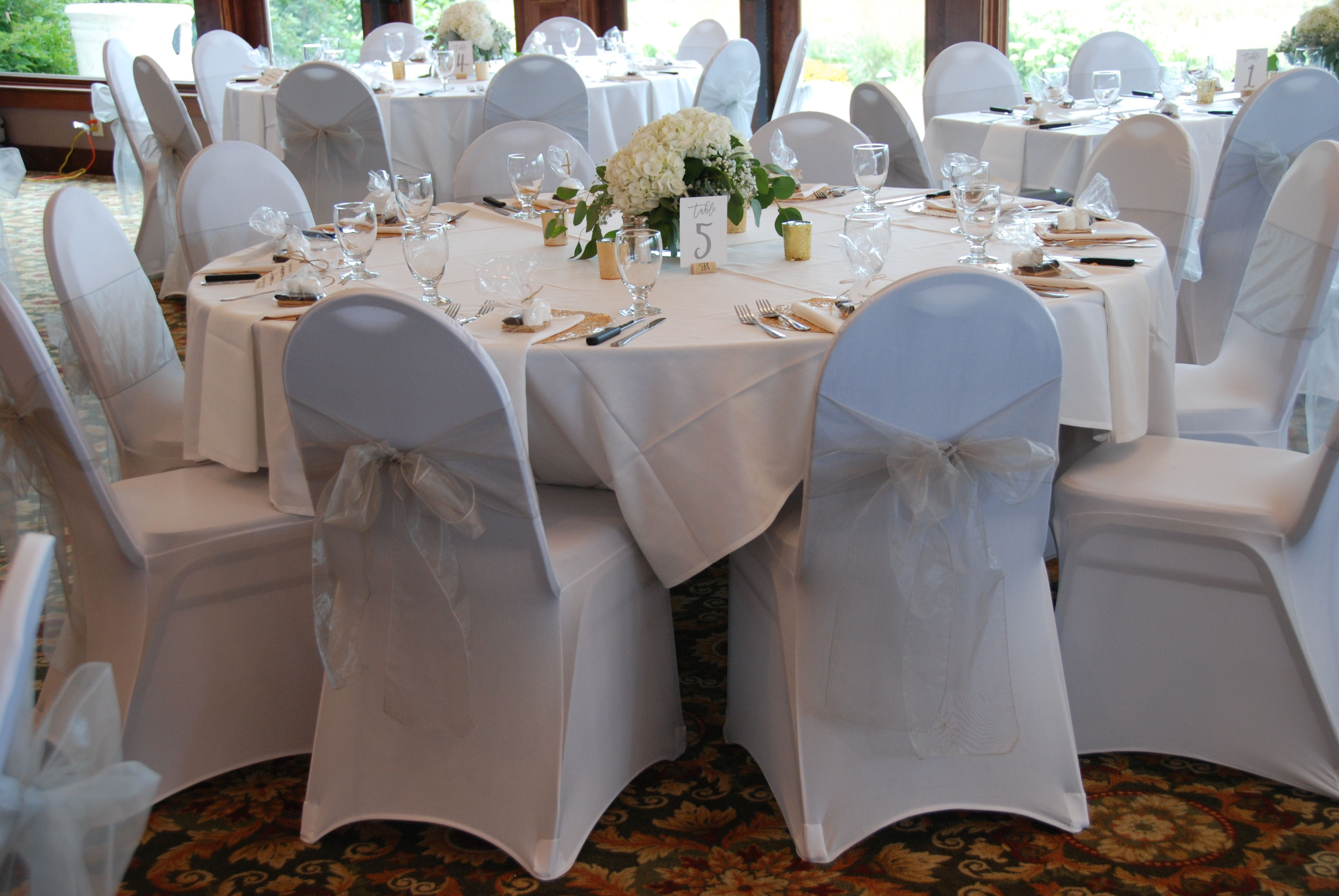 Wedding Reception Decor White Chair Covers White Spandex Chair