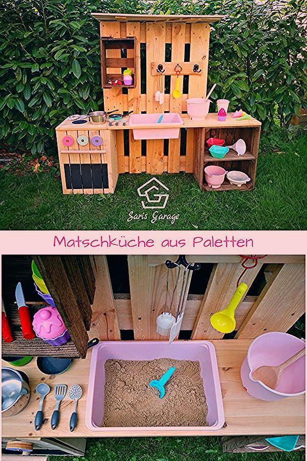 Photo of ᐅ Matschküche selber bauen aus Paletten & Obstkisten