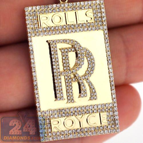 10k yellow gold 163 ct diamond rolls royce badge pendant mens diamond rolls royce rr car badge pendant 10k yellow gold custom made aloadofball Gallery