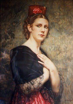 Portrait Painitng by George Owen Wynne Apperley ~ Blog of an Art Admirer