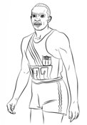 Jesse Owens Coloring Page Black History Ideas Black History