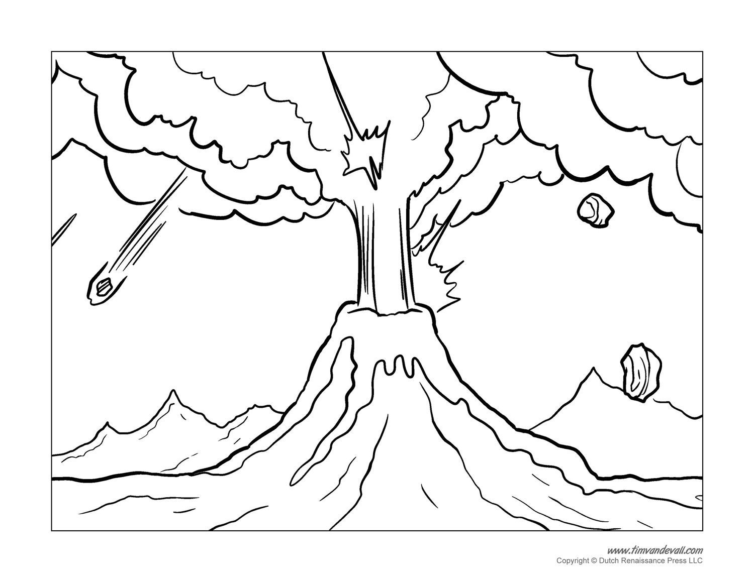 Volcano Coloring Pages Coloring Pages Volcano Drawing Love Coloring Pages