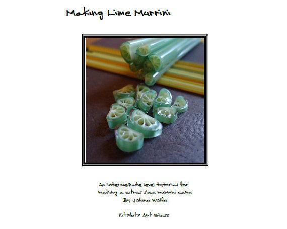 Making Lime Murrini pdf lampwork tutorial by FritNChips on Etsy, £15.00