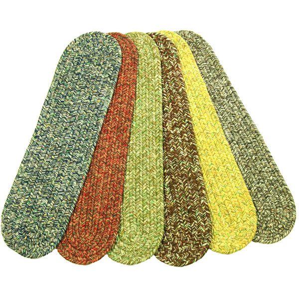 Best Rhody Rug Sandi Reversible Braided Stair Treads Set Of 4 640 x 480