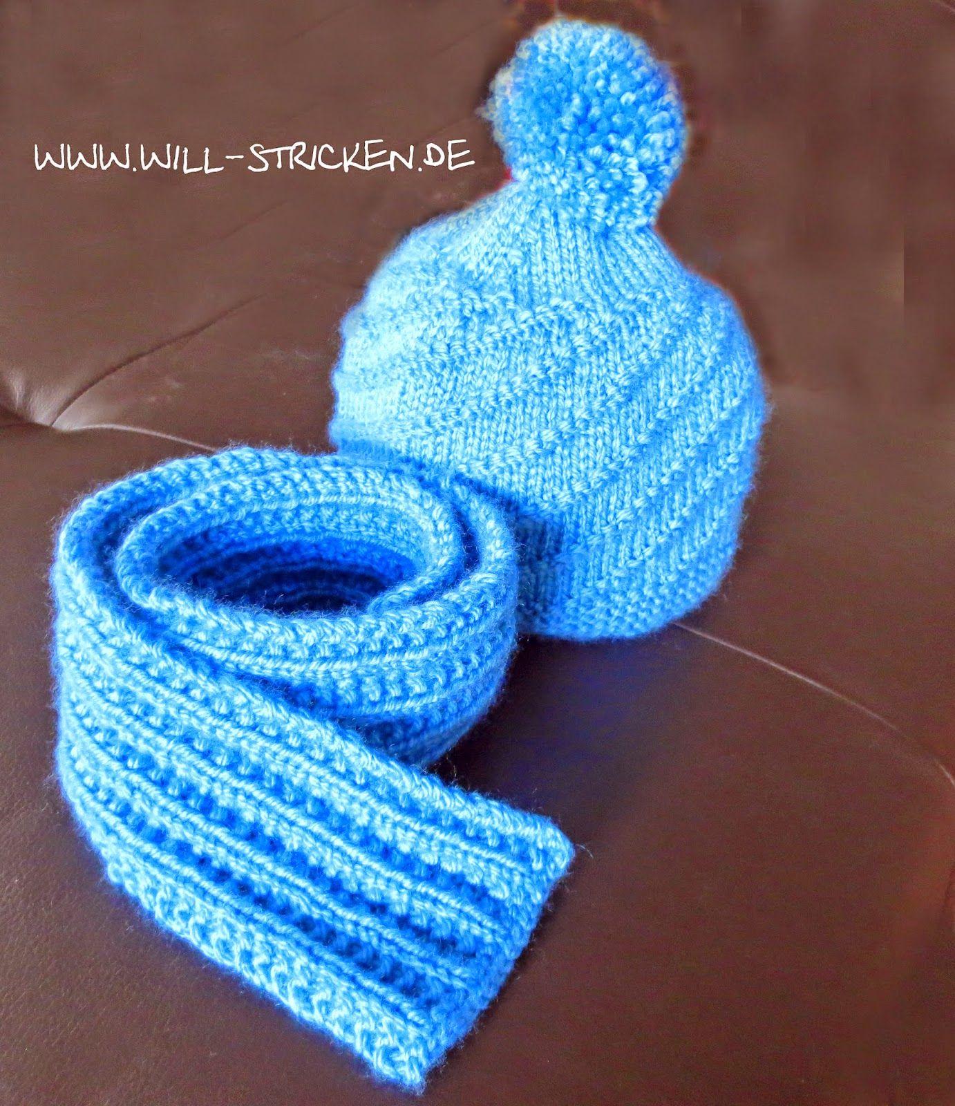 kinderschal und kinderm tze stricken kostenlose anleitung knitting projects pinterest. Black Bedroom Furniture Sets. Home Design Ideas