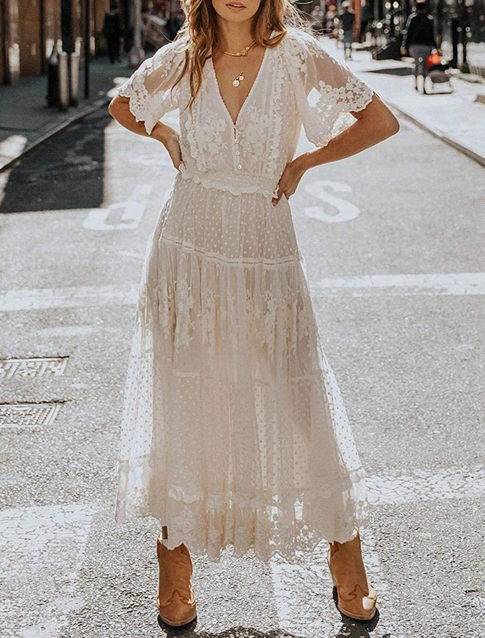 touvie damen festliche kleider maxi hochzeit elegant