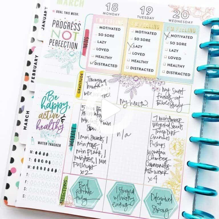 Using my Bullet journal for weight loss: Tracking, Planning and 71+ Ex