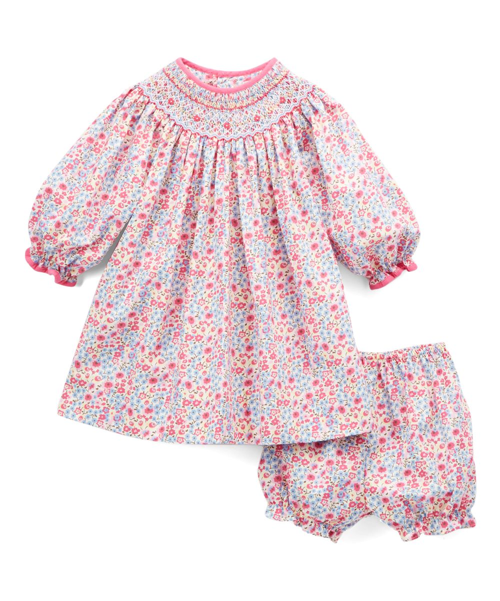 9e6928819 Magenta Floral Smocked Dress & Bloomers - Infant | Products ...
