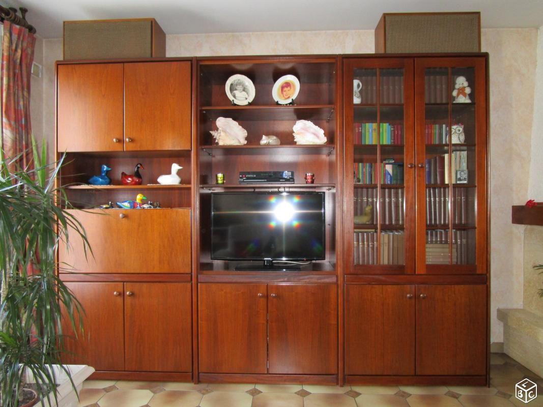 meuble living bar tv biblioth que le bon coin pinterest coins. Black Bedroom Furniture Sets. Home Design Ideas