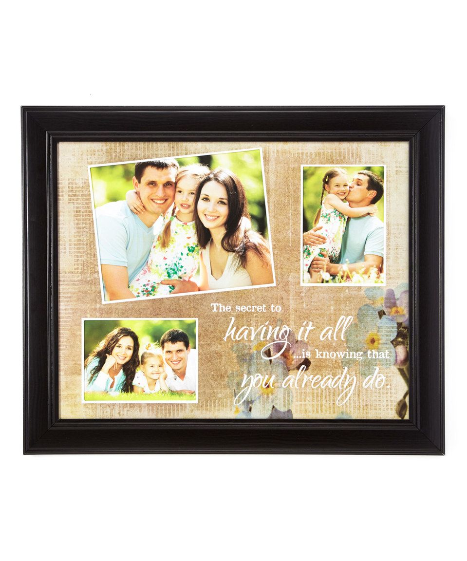 Look at this #zulilyfind! 'Having It All' Collage Frame by Creative Products #zulilyfinds