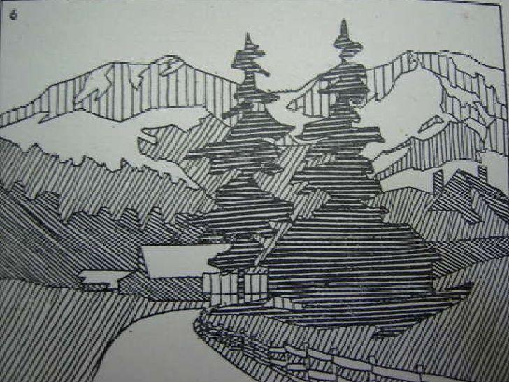 Dibujo De Lineas Paisaje: Resultado De Imagen Para Técnica De Rayas