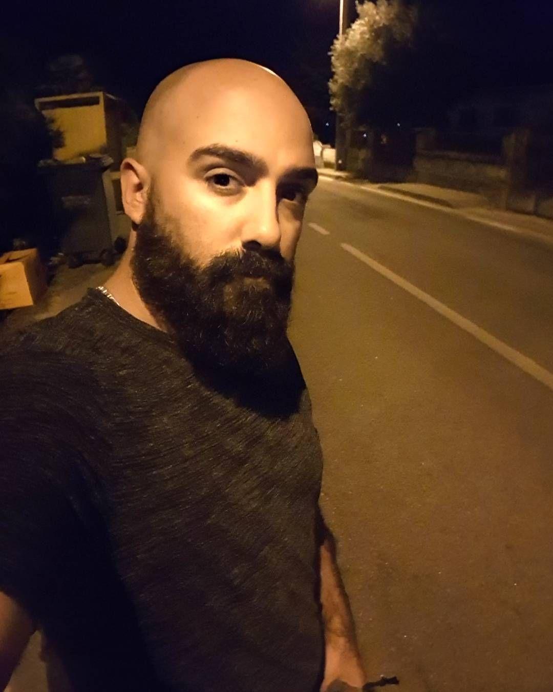 Bad mens haircuts bynight selfie beard beardman bald  beards  pinterest  beard care