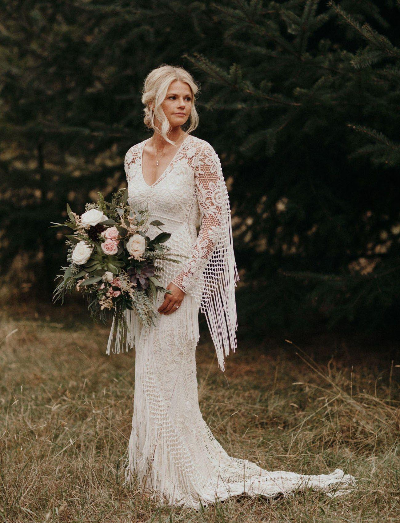 And the Bride Wore…Fringe Crochet wedding dresses